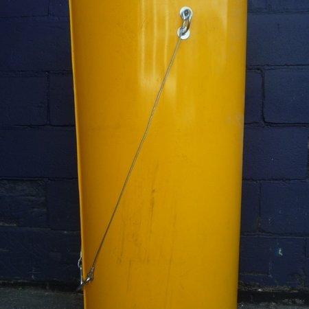 """Rubbish Chute - Yellow 1m x 22"""" diameter"""
