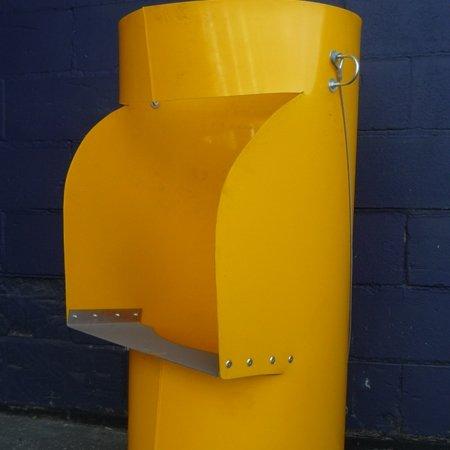 """Rubbish Chute - Yellow top hopper 22"""""""