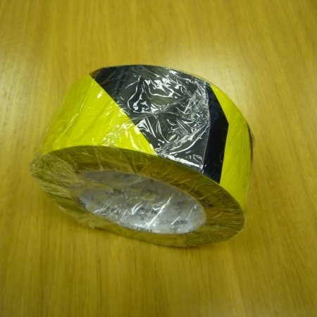 Tape yellow & black 50mm x 33m