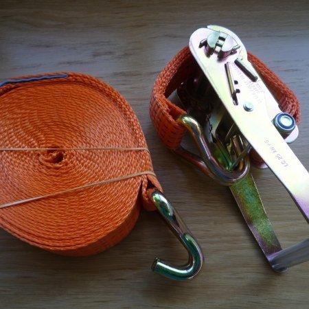 Rachet straps - hook type 8m long