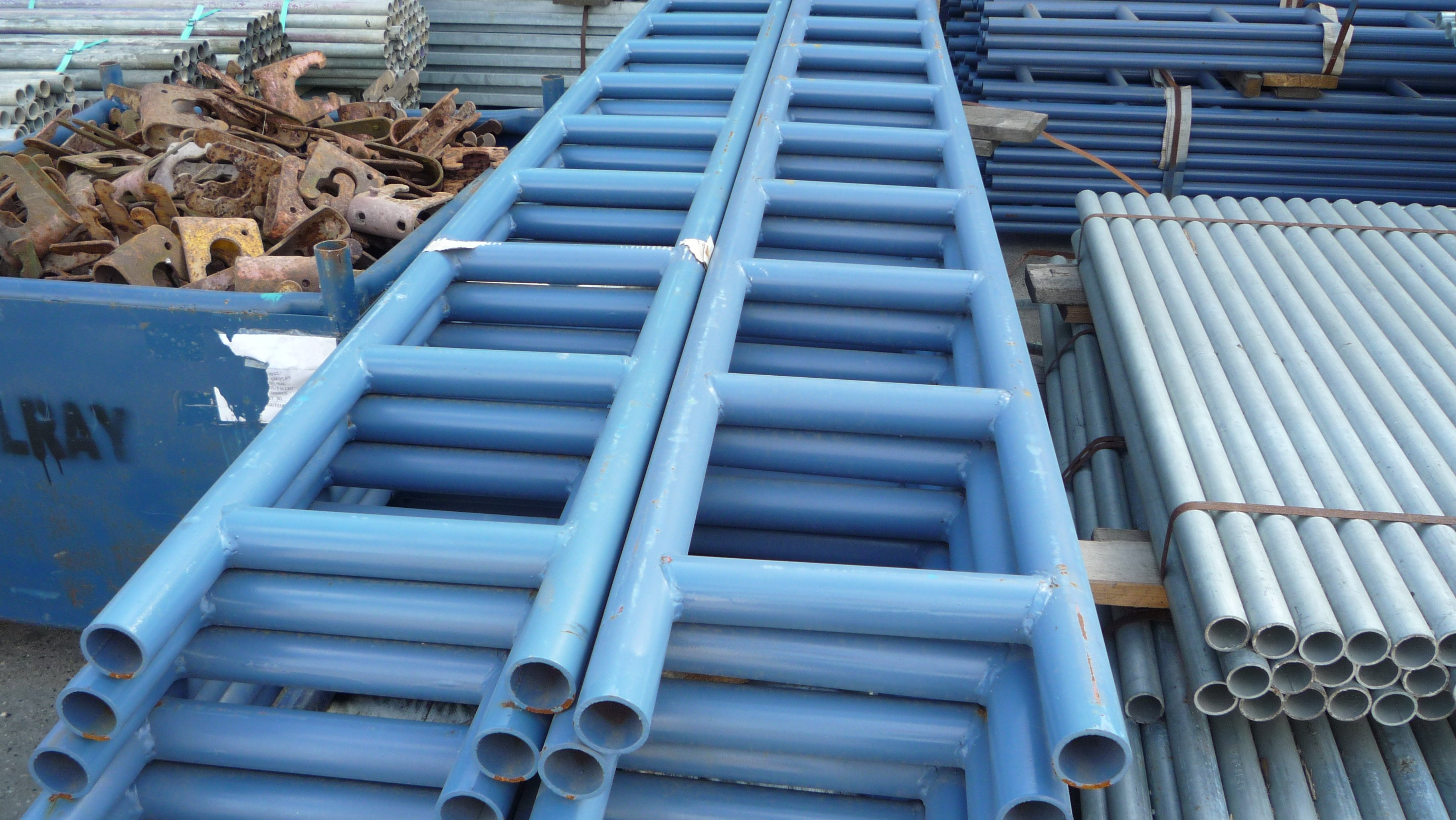 Steel Scaffolding Ladder : Ladder beams painted gilray plant ltd